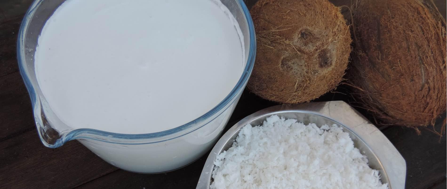 Zelf verse kokosmelk maken
